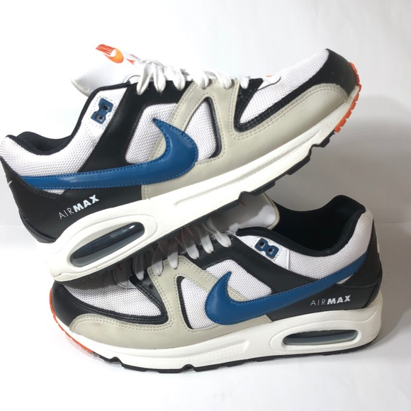 Nike Air Max Command Mens Orange and Blue EUC